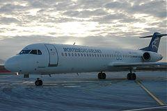 un Fokker della Montenegro Airlines