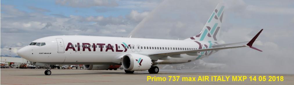 Primo 737 max a Malpensa MXP