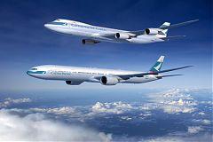 B747-800 e B777 Cathay Pacific